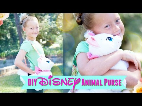 DIY NO SEW Disney Stuffed Animal Purse