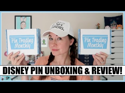 DISNEY PINS! Pin Trading Monthly Double Unboxing!