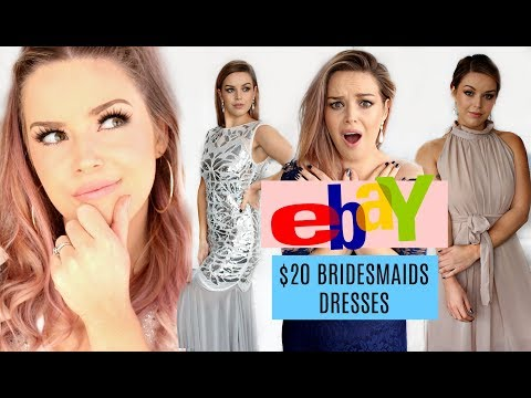 TRYING ON $20 EBAY BRIDESMAIDS DRESSES || FAIL OR SUCCESS?! || MAKEUP BY ANNALEE