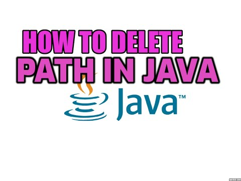 HOW TO DELETE  PATH IN JAVA  FOR WINDOWS 10/8/7  BY AKASH