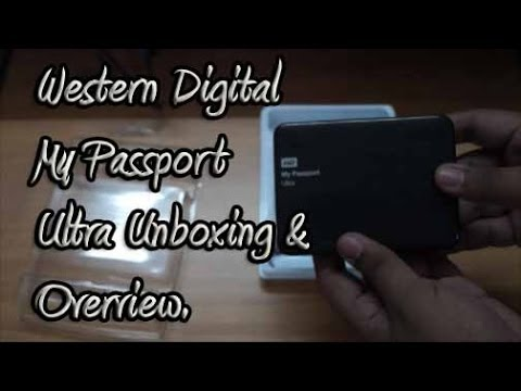 Western Digital My Passport Ultra Unboxing and Overview.