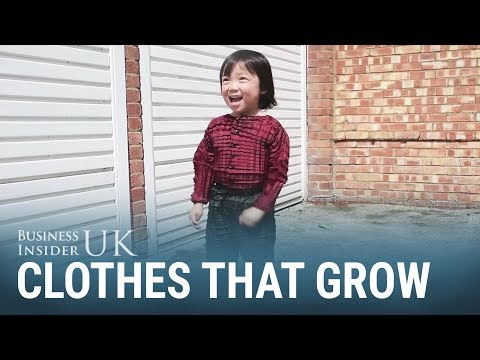 Clothes stretch to fit kids as they grow up