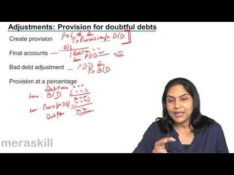 Treatment of Provision for Bad Debt Profit & Loss Account | Final Accounts | CA CPT | CS & CMA