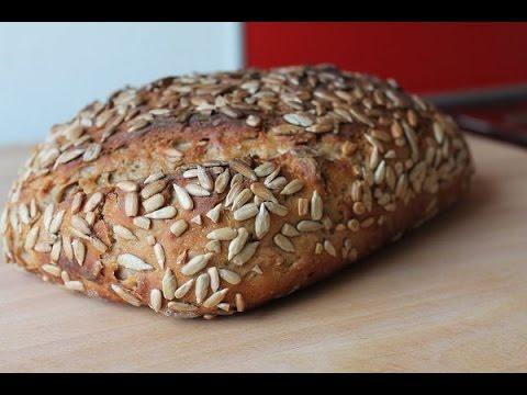 Sonnenblumenkernbrot backen (Rezept) || Sunflower Seed Bread (Recipe) || [ENG SUBS]