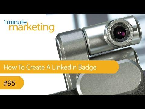 How To Create A LinkedIn Badge