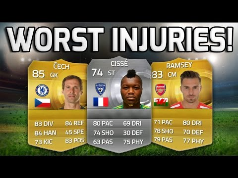 FIFA 15  - THE WORST INJURIES EVER!!! - A Fifa 15 Squad Builder Of Players With The Worst Injuries