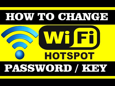 how to change your wifi hotspot password or key