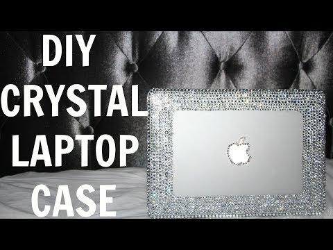 DIY CRYSTAL LAPTOP CASE
