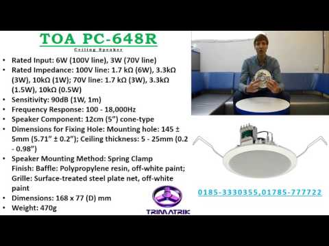 TOA PC-648R Ceiling Speaker Bangladesh, TOA Bangladesh