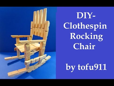 How to make a Clothespin Rocking Chair