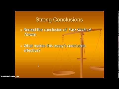 Writing a Concluding Paragraph to a Compare & Contrast Essay