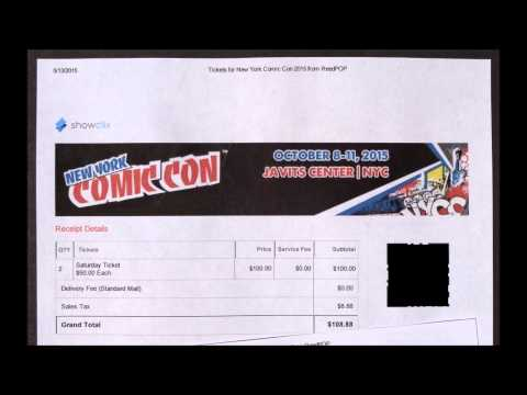 I Got Tickets & Getting Tickets Rant for New York Comic-Con 2015 NYCC
