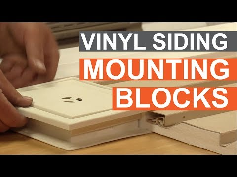 Tip of the Week: Using Vinyl Siding Mounting Blocks