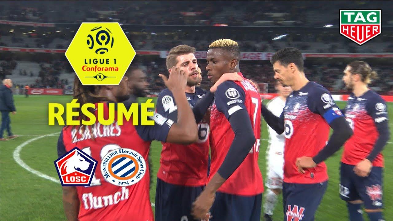 LOSC - Montpellier Hérault SC ( 2-1 ) - Résumé - (LOSC - MHSC) / 2019-20