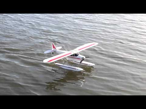 Super Cub S Flight with Floats and Water Rudder