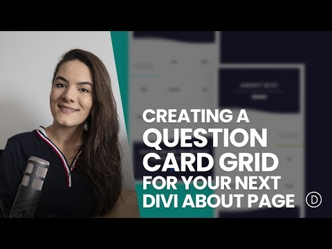 Creating an Interactive Question Card Grid for Your Next About Page with Divi