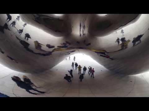 Henley's Happy Trails explores Cloud Gate at Millennium Park in Chicago-October 2016