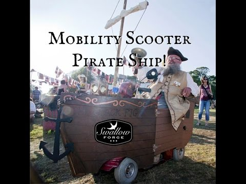 How to build a Mobility scooter pirate ship!
