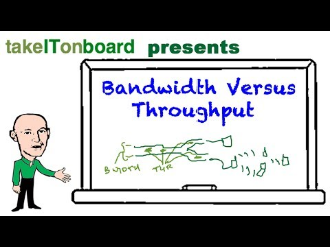 What is the difference between bandwidth and throughput?