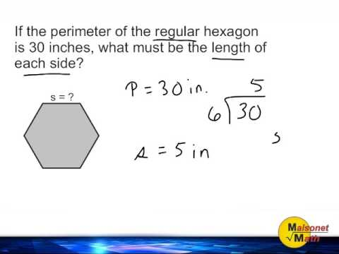 Find Missing Side Length Of A Regular Polygon Given The Perimeter