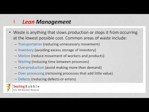 VCE Business Management - Waste Minimisation
