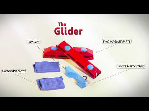 THE GLIDER S-1 MAGNETIC WINDOW CLEANER