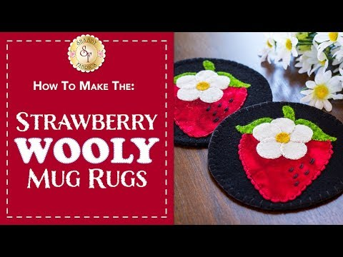 How to Create a Wool Strawberry Mug Rug | A Shabby Fabrics Sewing Tutorial