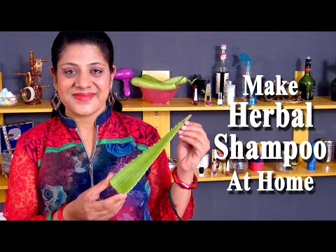 Herbal Shampoo - How to Make Homemade Herbal Shampoo by Sonia Goyal @ ekunji.com