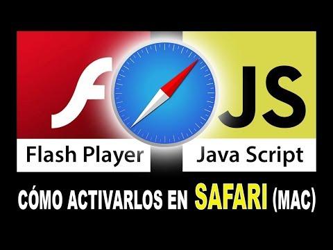 Activar Flash Player y Java Script en el navegador SAFARI de Mac