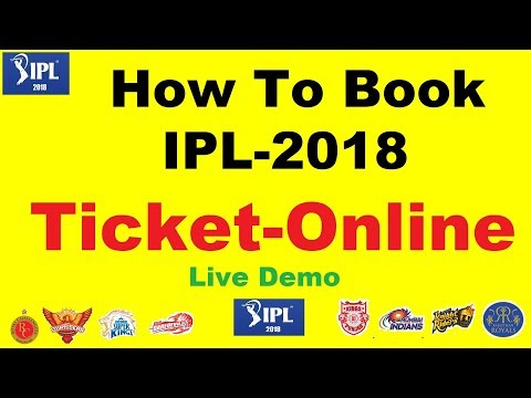 How to Book IPL 2018 tickets in Hindi | Live Demo