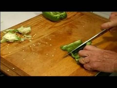 Shrimp Creole Recipe : Chop Bell Pepper for Shrimp Creole
