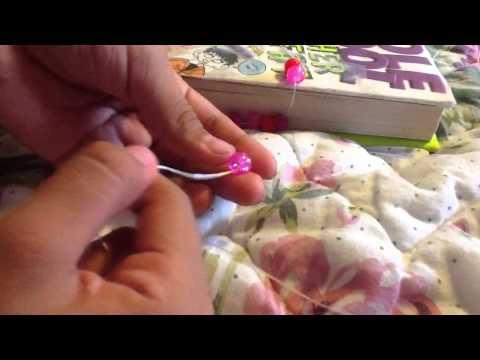 How to make a easy pony bead bracelets! :{