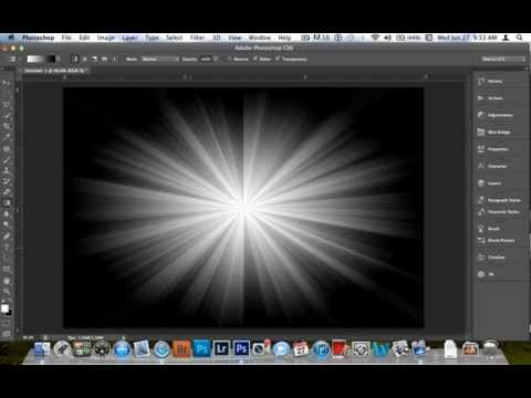 How to make a  S T A R  *  B U R S T  Effect in Photoshop CS6