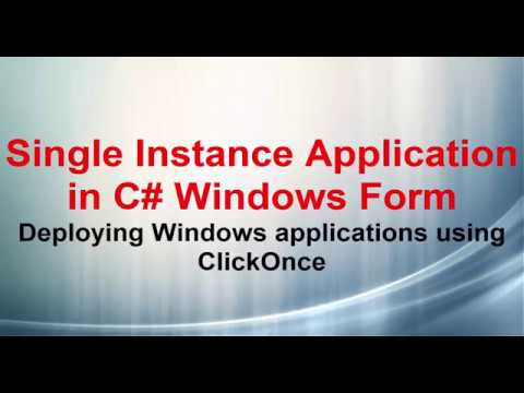 Single Instance Application in C# Windows Forms