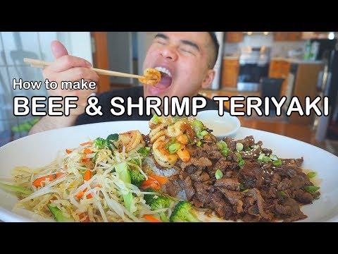 How to make BEEF & SHRIMP TERIYAKI