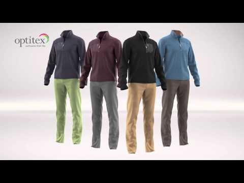 3D Fashion Design Software by Optitex, Fleece, Pants, Rigid Parts, Color Ways