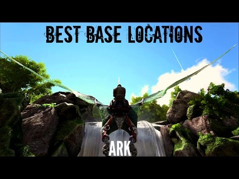 BEST BUILDING LOCATIONS (2017) - The Island - ARK Survival