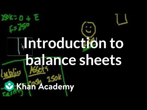 Introduction to Balance Sheets   Housing   Finance & Capital Markets   Khan Academy