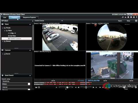 Milestone XProtect Smart Client - Playback Video on Multiple Cameras at Once