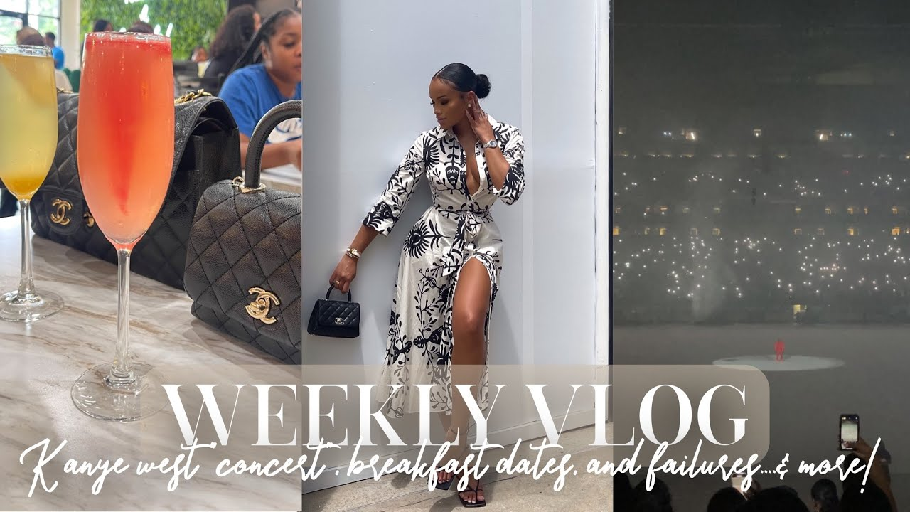 """WEEKLY VLOG! KANYE DONDA """"CONCERT"""" + LOTS OF FRIEND DATES + FAILURES & MORE.. ALLYIAHSFACE VLOGS"""