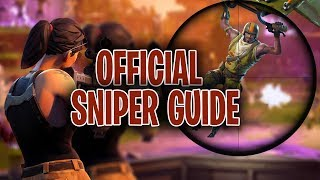 "How To Snipe 101 ""mastering Bullet Drop "" Fortnite Battle Royale Strategy Guide Part 2."