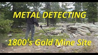 Metal detecting old Colorado gold mining sites!