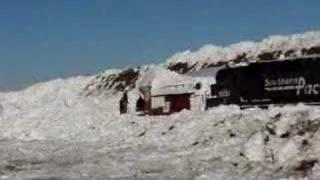 Train Snow Plow Getting UnStuck  4 of 5