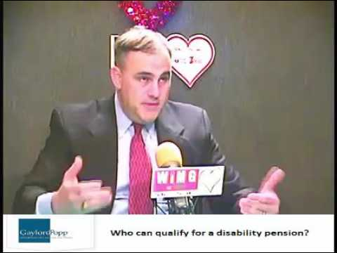 Who can qualify for disability pension?