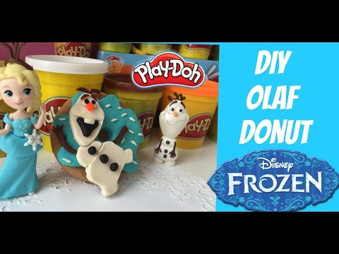 LEARN HOW TO MAKE PLAY DOH FOOD DISNEY FROZEN OLAF DONUT! 2016 Play Doh Donut Tutorial