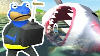 CONTROLLING THE GIANT SHARK - Amazing Frog - Part 87 | Pungence