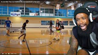 TJASS HALF COURT GAME WINNER! He Got Mad Then Got DUNKED ON! 5v5 Basketball At The Gym!