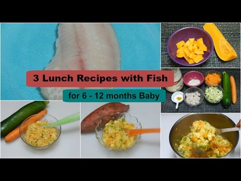 3 EASY HEALTHY LUNCH/DINNER IDEAS! Recipes with Fish for 6 - 12 months Baby l Fish Baby Food