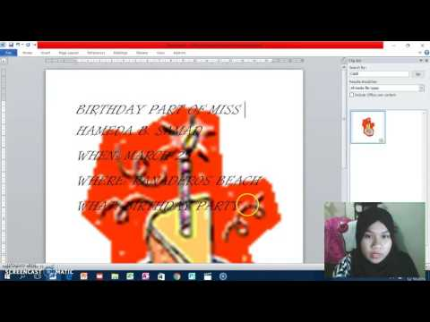 How to make an invitation card in MS Word