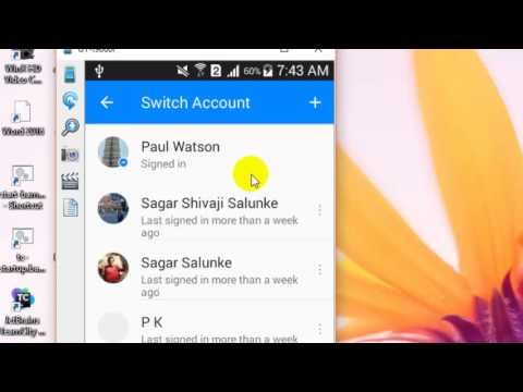 How to change account in Facebook messenger android app